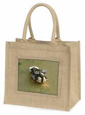 an Inquisitive Little Duck Large Natural Jute Shopping Bag Christmas G Ab-d3bln
