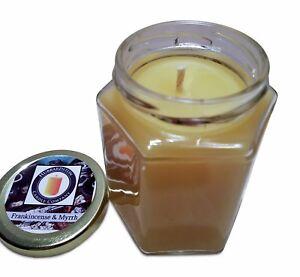 Frankincense & Myrrh Scented 100 Percent  Beeswax Jar Candle, 8 oz