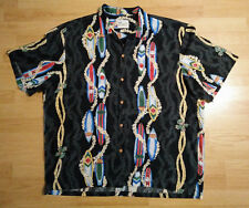Vtg Diamond Head Sportswear Mens Surf Boards Leis Hawaiian Aloha Shirt Button