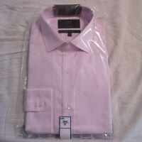 "M&S Mens Pale Pink Pure Cotton Tailored Fit Shirt Collar Size 15"" BNWT"