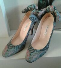 Gorgeous CARVEN designer Multi-coloured  Heels With removable  Bow Detail 40 NEW