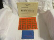 Vintage Franklin Mint Solid Bronze Presidential Coins 35 Pc Plus Booklet
