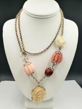 Vintage Gerard Yosca Spice Market Scarab Necklace