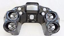 """Mutazu Inner Front Fairing w Quad 6.5"""" Speaker pods Harley Road Glide 1998-2013"""