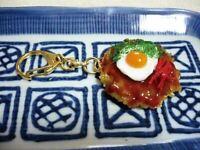 Japanese Rice Ball onigiri keychain ring salmon roe caviar fake food new Xmas