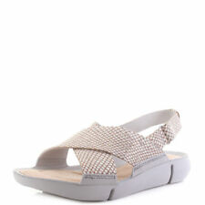 752aaeafa43c Clarks Women  s Tri Chloe Sandals Silver Metallic 5 D UK BARGAIN