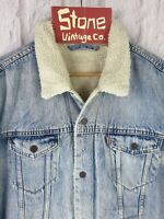 Levis Vintage Clothing LVC Blue 1967 Type III Sherpa Jacket BIG E £249 New 2XL