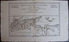 CARTE DE LA PARTIE SEPTENTRIONALE D'AFRIQUE OU DE LA BARBARIE, ORIGINALE 1750