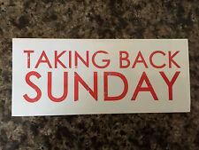 Taking Back Sunday sticker promo for the Louder cd