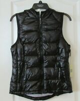 Tangerine Active Insulated Puffer Vest W/Hood BLACK  Women's Sz S OR XXL NWT