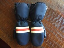 Vintage Montgomery Ward Snowmobile Ski Gloves Mittens Leather Palm Thumb