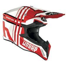 Airoh Wraap Roto Rojo Brillante Motocross MX Enduro Moto de Cross Atv Casco