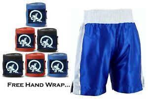 Boxing Fight MMA Kick Boxing Martial Arts Muay Thai Shorts + Free HAND WRAP GIFT