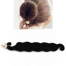 Girls Magic Sponge Hair Styling Bun Maker Twist Curler Tool Clip Donut 2018 AU