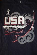2014 Fifa World Cup Brazil Usa Blue Youth Shirt Size Large