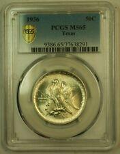 1936 Texas Commemorative Half Dollar 50c PCGS MS-65 Gold Shield