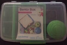 Sistema Klip It 1.76L Bento Lunch Box to Go Green Multi Compartment Yogurt Pot