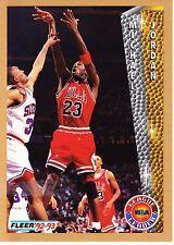 1992-93 Fleer Basketball Card  #238 Michael Jordan League Leader