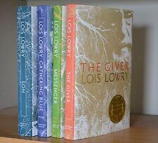 Lois Lowry~SIGNED~The Giver Quartet~HC~Complete 4-Book Set + Photos!!!