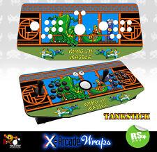 Kung Fu Master X Arcade Tankstick Overlay Graphic Sticker