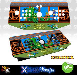 Kung Fu Master X Arcade Artwork Tankstick Overlay Graphic Sticker
