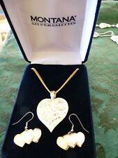 Montana Silversmith heart with flowers pendant & 3-heart earrings