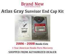 Genuine OEM Honda Civic Dark Atlas Gray NH598L Sunvisor End Cap Kit 2006-2008