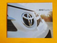 2013 TOYOTA FULL MODEL LINEUP SHOWROOM SALES BROCHURE....24   PAGES