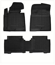 Hyundai SANTA FE III 2012- Rubber Car Floor Mats All Weather Alfombrillas Goma