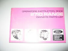 1975 FORD 2710 RANGE DIESEL ENGINE INSTRUCTION MANUAL HANDBOOK & PARTS BOOK
