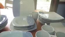 Blue Stoneware Dinnerware Set Studio Colortone Blue Service for 8 NWOT 7 bowls