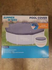 Summer Waves 8-10 FT Pool Cover For Metal Frame And Ring Pools / FAST SHIPPING /