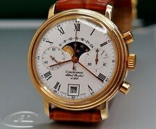 CHRONOSWISS Chronograph Moonphase, Ø37mm, gold plated, Valjoux hand winding 1986