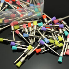 100 Pcs New Mixed Color Nylon Latch Flat Dental Polishing Polisher Prophy Brush
