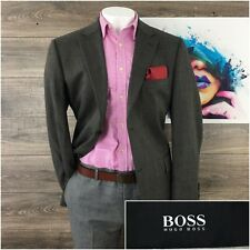 Hugo Boss Pasolini Us Mens Soft Knit Gray Wool Jacket Sport Coat Blazer 46R EUC