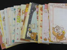 San-X 198 pc Rilakkuma Bear Note Writing Memo Paper Cute Stationery Lot Penpal