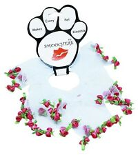Mirage Pets Rose Smoocher for Pets - White and Pink (SM-MD-LG-XL)