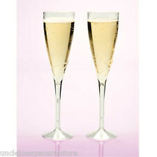 Champagne FLUTES, Party Ware Weddings Holiday Parties, 4.5 oz plastic clear