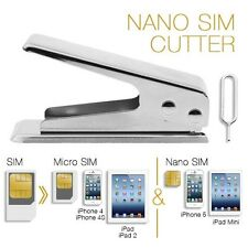 Standard Micro Nano Sim To Apple iPhone 5 5G 5S 5C 5th  Card Cutter+2 Adapter