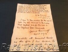 1916 Rising Surrender Notice,Pearse,Connolly,MacDonagh Typed & Handwritten Print