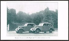 1930s Old Antique Vintage 1934 Peugot 201 & 301 Car Auto Automobile Photo Print