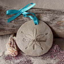 CAPTIVA ISLAND Sand Dollar Made with Sand Tropical Beach Ornament