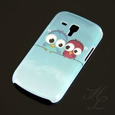 Samsung Galaxy S Duos S7562 Hard Case Schutz Hülle Motiv Etui Zwei Eule Owl