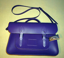 "The Cambridge Satchel  15"" purple  bag. NWT. Made in United Kingdom."