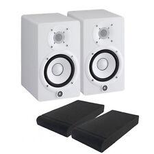 COPPIA Yamaha HS5W bianche Monitor da Studio 70W + ISO PADS, NUOVI Garanzia ITA