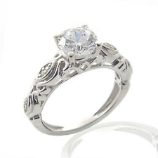 2.44 CT ROUND CUT D/VVS1 DIAMOND SOLITAIRE ENGAGEMENT RING 14K WHITE GOLD OVER