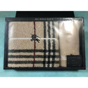 Burberry Towel Set New Face Towel Mini Terry Set Unused F/S FEDEX RSMI