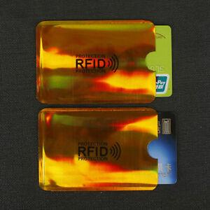 10Pcs Anti Theft Credit Card Wallet Protector RFID Blocking Safety Sleeve Shield