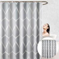 200*180 Rideau Douche Salle de Bain Imperméable Polyester Résistant Moisissure