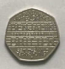 2013 BENJAMIN BRITTEN 50p coin